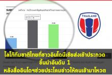 อย่างนี้ก็ได้เหรอ?โลโก้ทีมชาติไทย!!ออกแบบโดยอินโดโหวดโดยอินโด ขึ้นอันดับ1เฉย!