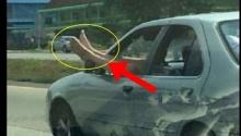 ดราม่า มาเต็ม!แชร์สนั่น!ยกเท้าโผล่นอกรถวิ่งบนถนน ถล่มไม่เหมาะสม