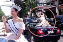 แชร์ว่อน!! สภาพพิธีแห่ Miss thailand world คนใหม่ กลับบ้านที่เชียงราย กร่อยสุดๆ !! (ชมภาพ)