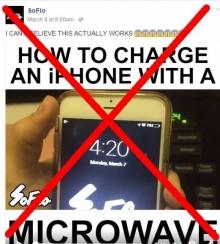 เฮ้ยเกินคาดเชื่อกันด้วยเหรอเนี่ย เอาโทรศัพท์ไปชาร์จในไมโครเวฟ...