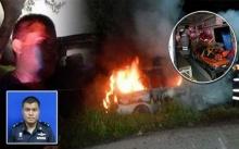 ฮีโร่ตัวจริง !พันจ่าอากาศช่วยคนขับออกมาจากรถตู้ไฟไหม้
