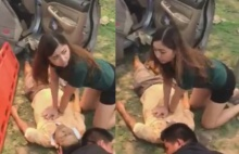 น้ำใจงาม!! สาวโดดลงมาช่วยปั๊มหัวใจ CPRลุงโดนรถชนข้างทาง(คลิป)