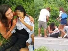 ปรบมือ!! ฝรั่งช่วยสาวไทย ไม่รังเกียจแม้เลือดอาบ