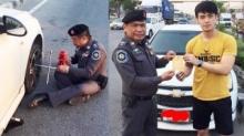 น่าชื่นชม ตำรวจดีๆยังมีอีกเยอะ เมื่อหนุ่มคนนี้ยางแตก