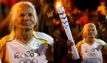 หัวใจไฟแรง! คุณยายวัย 106 ปี ผู้ถือคบเพลิงโอลิมปิกที่แก่ที่สุด