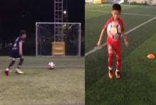 โผล่อีกคลิป เด็กมหัศจรรย์เตะบอลชนคาน 4 ครั้งติด (คลิป)
