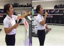 เมื่อสาวพนักงานขาย หยิบไมค์ขึ้นร้องเพลง! ถึงขั้นขนลุกเกรียวทั้งห้าง!! (คลิป)