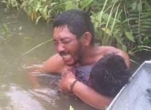 ภาพสลด! พบลูกน้อยจมน้ำเสียชีวิต หลังตามหาอยู่นาน
