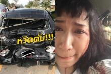 นักร้องสาวโพสต์ถูกสิบล้อชนรถพังยับ หวิดสิ้นชื่อ พิษด่านลอย (คลิป)