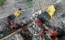 หนุ่มเคราะห์ร้าย ถูกรถไฟขยี้ขาเละ!! เพราะดันพลาดไปทำสิ่งนี้? ข้างรางรถไฟ