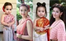 """น่ารักน่าหยิก """"น้องหรรษา"""" หรือ """"มินิการะเกด"""" สาวน้อยลูกครึ่งใส่ชุดไทย ตามรอยละครบุพเพสันนิวาส"""