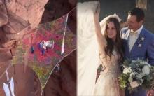 แต่งงานธรรมดาโลกไม่จำ!! บ่าวสาววิวาห์กลางอากาศ สูงเหนือพื้น 120 เมตร ไต่สลิงโชว์!! (มีคลิป)