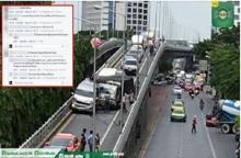 ดราม่าหนักมาก...อุบัติเหตุรถชนกลางสะพานไทย-ญี่ปุ่น มีโทษจยย.กันซะงั้น
