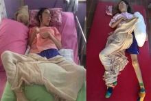 วอนช่วยสาวป่วยเป็นอัมพาต ขายบ้านมาอยู่วัด