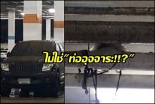 ห้างดังชี้แจงแล้วท่อแตกที่ลานจอดรถเป็นท่อน้ำทิ้ง ไม่ใช่ท่ออุนจิ!!(คลิป)