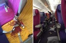 แชร์ว่อน!! อุบัติเหตุสายการบินไทยตกหลุมอากาศ ผู้โดยสาร-สจ๊วตเจ็บอื้อ