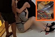 สยอง!! สาวโดนเหล็กบันไดเลื่อนบาดขา แผลเหวอะ(คลิป)