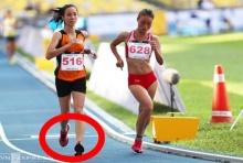 ฉาวอีก!! แฟนกีฬาโวย!!! แข่งเดินทนหญิง มาเลย์วิ่งเข้าเส้นชัย(คลิป)