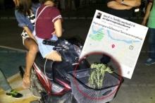 สองสาววัยรุ่น พกกัญชาใส่ตะกร้ารถไปเที่ยวผับ โพสต์เฟซบุ๊กอ้างนึกว่าถูกกฎหมาย