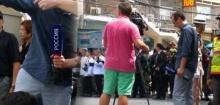 วิจารณ์หนัก นักข่าวต่างประเทศ สวมชุดไม่ดูกาลเทศะ กางเกงขาสั้น สีฉุดฉาด
