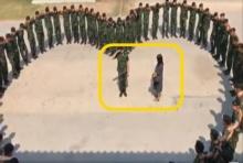 กองพันสีชมพู!!ทหารเซอร์ไพรส์ขอแฟนแต่งงาน ครูฝึกช่วยจัดแถวเป็นรูปหัวใจ(คลิป)