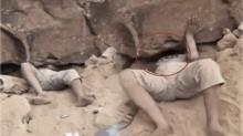 ช็อกตาค้าง!! คิดว่า ชายคนนี้ โดนหินทับ พอไปดูใกล้ๆ ถึงกับผงะ กลับกลายเป็นอีกอย่าง?