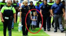 งงกันทั้งโรงเรียน!! ตำรวจทั้งสถานีรวมใจ เดินไปส่ง หนูน้อยไปโรงเรียน ก่อนรู้สาเหตุถึงกับน้ำตาคลอ
