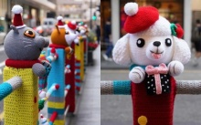ต้อนรับคริสต์มาส! ส่องไอเดียสุดน่ารัก ถักนิตติ้งใส่ให้รั้วริมถนน!!