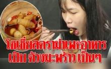 โซเชี่ยลเดือด!! ดราม่าเพจอาหารทำเมนูด้วงมะพร้าวแช่น้ำปลา เปิบเป็นๆ (มีคลิป)