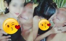 สาวน้อยสุดน่ารักถ่ายรูปกอด-จูบกับหนุ่มใหญ่ ทำชาวเน็ตวิจารณ์เสียงแตก!!