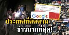 Google เผย ประเทศอันดับ 1 ที่ติดตามข่าว 13 ชีวิตติดถ้ำหลวงมากที่สุด คือประเทศนี้?