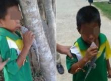 """จำได้ไหม?""""เด็กที่ถูกตุ๊กแกกัดปาก"""" ล่าสุดปากเป็นแบบนี้แล้ว!!"""