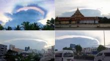 แชร์กันว่อน!! ก้อนเมฆคล้ายจานบินยักษ์ ปรากฏเหนือท้องฟ้า!