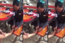 ชาวเน็ตประทับใจ ชื่นชม เจ้าหน้าที่ตำรวจช่วยล้างแผลนักท่องเที่ยวไม่มีรังเกียจ(คลิป)