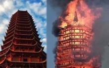 ชาวพุทธร่ำไห้!! ไฟไหม้วัด ลามมหาเจดีย์ศักดิ์สิทธิ์ 16 ชั้น พังถล่มต่อหน้าต่อตา!! (มีคลิป)