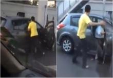 เดือด!!คนขับรถตู้จัดหนักคู่กรณี ก่อนปิดประตูกระแทกขา!!