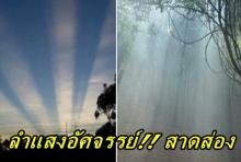 ลำแสงอัศจรรย์!! สาดส่องบริเวณที่บวงสรวงตัดไม้จันทน์หอมสร้าง พระบรมโกศ