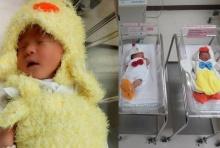 เห็นแล้วยิ้ม! รพ.เปาโลโชคชัย4สวมชุดลูกเจี๊ยบให้ทารกต้อนรับปีระกา