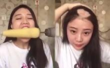 ยังจำได้ไหม? สาวจีนใช้สว่านกินข้าวโพด ผมร่วงเป็นกระจุก ตอนนี้ผมขึ้นแล้ว สวย ใส น่ารักมาก!!