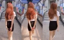 จ้องตาเป็นมัน!! สาวนักศึกษาเดินหันหลังอย่างสวย พอเธอหันหน้ามาเท่านั้นแหละ? (มีคลิป)