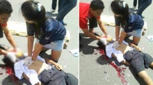 ชาวเน็ตชื่นชม พยาบาลสาวช่วยเด็กที่ถูกรถชน ช่วยจนถึงที่สุด