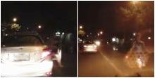 เบรกกระทันหัน!! จอดรถให้คนข้ามถนน จนคันหลังวิ่งใส่แบบนี้