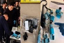 เปิดภาพหลักฐาน ไปป์บอมบ์-วงจรระเบิด จับได้คาบ้านมือบึ้มพระมงกุฎ