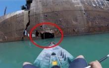 หนุ่มพายเรือไปเจอ ซากเรือร้าง ขนาดใหญ่! เห็นช่องเล็ก จึงตัดสินใจพายเข้าไปดู?? พบสิ่งที่ใครหลายคนอาจไม่เคยเห็น!
