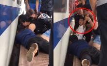 ระทึก!!! เด็กหญิง 3 ขวบ ร้องไห้โฮ พลัดตกลงไปในช่องว่างระหว่างชานชาลากับรถไฟ (มีคลิป)