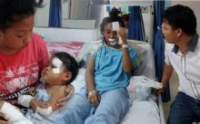 อาการล่าสุดของ 3 แม่ลูกเลือดอาบ หลังเจอหนุ่มน้ำใจงามช่วยเหลือ