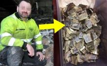"""พนักงานเก็บขยะเจอ """"เงิน"""" ถูกทิ้งไว้ในกองขยะ พอเอามานับมูลค่า? ทำเอาอึ้ง!!"""