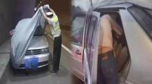 ตำรวจผงะ? เห็นรถจอดบนเลนฉุกเฉินแถมมีผ้าคลุม ตัดสินใจเปิดดู อึ้งไม่คิดว่าจะใจกล้าทำขนาดนี้!