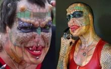 """สาวใหญ่เปลี่ยนร่างตัวเองเป็น """"มังกร"""" เหตุไม่อยากเป็น """"มนุษย์"""" อีกต่อไป!! (มีคลิป)"""