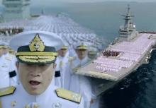 สุดยิ่งใหญ่!!กองทัพเรือ ขับร้องเพลงสรรเสริญฯบนดาดฟ้าเรือหลวงจักรีนฤเบศร